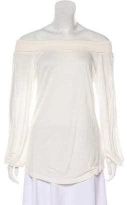 Veronique Branquinho Long Sleeve Scoop Neck Top