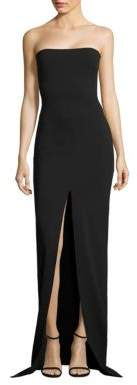 SOLACE London Bysha Strapless Crepe Gown