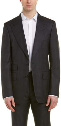 Tom Ford Shelton 2Pc Wool & Silk-Blend Suit With Flat Pant