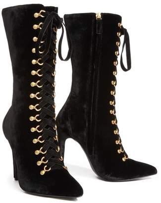 Alice + Olivia Darcie Velvet Boot
