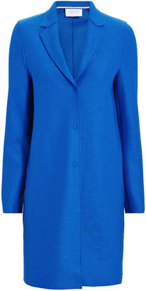 Harris Wharf London Electric Blue Cocoon Coat