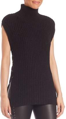 SET Women's Lace-Up Mockneck Sweater