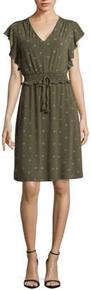 Liz Claiborne Flutter Sleeve A-Line Dress
