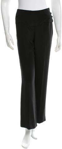 ChanelChanel Wide-Leg Silk Pants