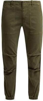 Nili Lotan Loden Stretch Cotton Military Trousers - Womens - Khaki
