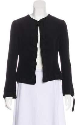 Armani Collezioni Ribbon-Trimmed Structured Jacket