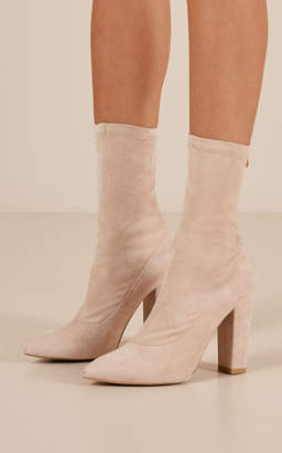 Showpo Billini - Octavia Boots in blush micro - 7 Billini