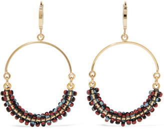 Isabel Marant - Gold-tone Beaded Hoop Earrings - one size $165 thestylecure.com