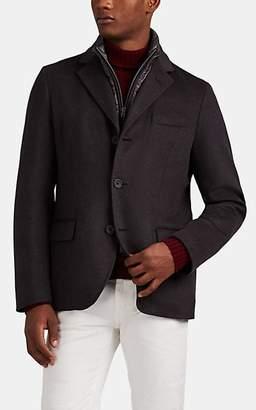 Herno Men's Cashmere Melton Coat - Charcoal
