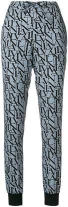 Lanvin logo print cuffed trousers