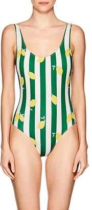 Solid & Striped Women's Anne-Marie Lemon Striped One-Piece Swimsuit
