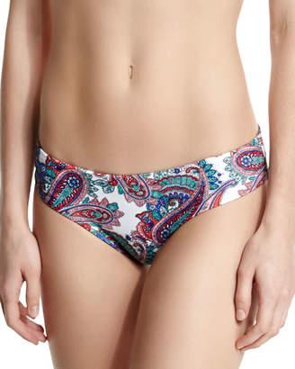 Shoshanna Paisley-Print Hipster Swim Bikini Bottom