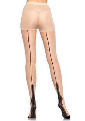 Leg Avenue Womens Sheer Havana Heel Pantyhose