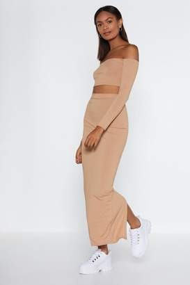 Nasty Gal Our Best Off-the-Shoulder Top and Midi Skirt Set