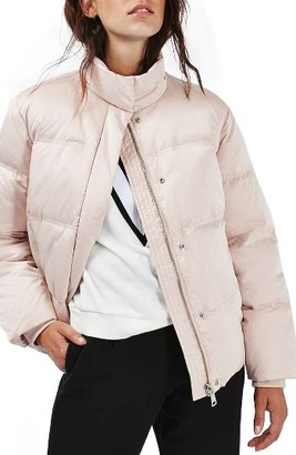 Women's Topshop Emily Puffer Jacket $130 thestylecure.com