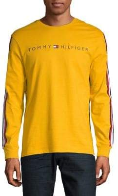 Tommy Hilfiger Logo Long-Sleeve Cotton Tee