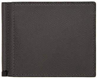 Valextra Grey Simple Grip Spring Wallet