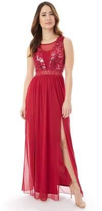 Iz Byer Juniors' Sequin Lace Prom Dress