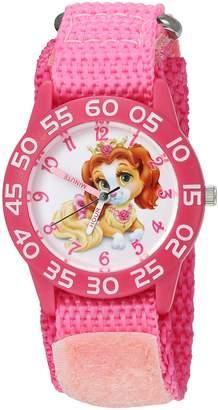 Disney Girl's 'Palace Pet' Quartz Plastic and Nylon Automatic Watch, Color: (Model: W002824)
