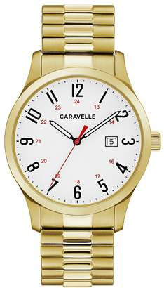 Caravelle Men's Easy Reader Stainless Steel Expansion Watch - 44B117