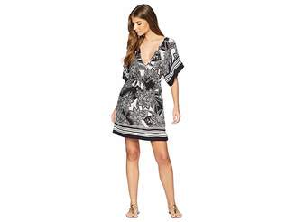 Lauren Ralph Lauren Graphic Floral Printed Tunic Cover-Up