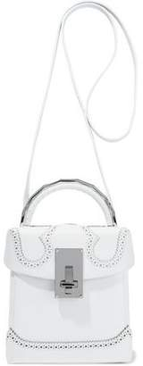 The Volon Box Alice Textured-Leather Shoulder Bag
