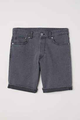 H&M Denim Shorts Slim fit - Gray