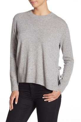 Vince Side Tie Cashmere Crew Neck Sweater