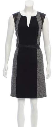 Rebecca Taylor Leather-Accented Knit Dress
