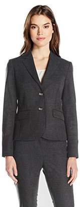 Jones New York Women's Washable Suiting Short 2 BTN Jacket