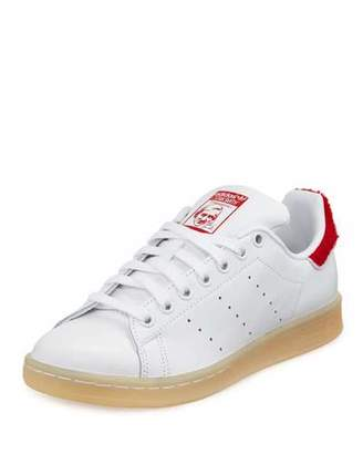 Adidas Stan Smith Winter Sneaker, White/Red $85 thestylecure.com
