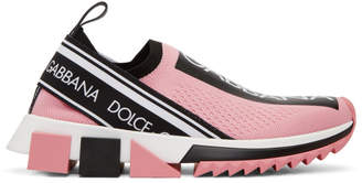 Dolce & Gabbana Pink Sorrento Slip-On Sneakers