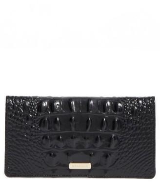 Women's Brahmin Melbourne Simone Croc Embossed Leather Wallet - Black $90 thestylecure.com