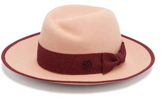 Maison Michel Virginie Felt Hat - Womens - Pink