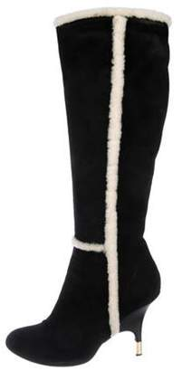 Giuseppe Zanotti Suede Knee-High Boots Black Suede Knee-High Boots