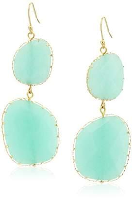 Panacea Genuine Stone Free Form Drop Earrings