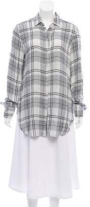 Bella Dahl Plaid Button-Up Top
