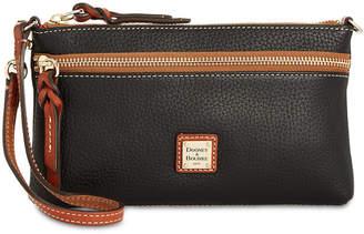 Dooney & Bourke Tech Top Zip Pebble Leather Wristlet