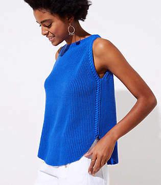 LOFT Shirttail Sweater Tank