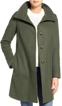 Women's Kristen Blake Funnel Neck Wool Blend Coat $198 thestylecure.com