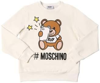 Moschino (モスキーノ) - MOSCHINO コットンフリーススウェットシャツ