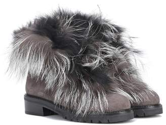 Stuart Weitzman Befoxy Londra suede ankle boots