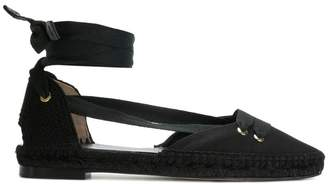 Castaner x Manolo Blahnik pointed tie up espadrilles
