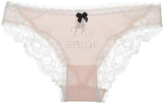 AWEI AW BRIDAL Personalized Bridal Lingerie for Women Honeymoon Thong Underwear Wedding Brief Panty(THE BRIDE), Shell Pink S //ZS17001CPP03//