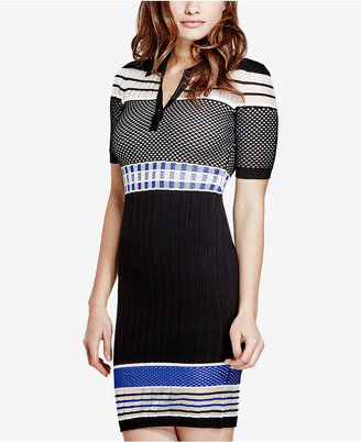 Guess Jaymes Contrast Sweater Dress $128 thestylecure.com