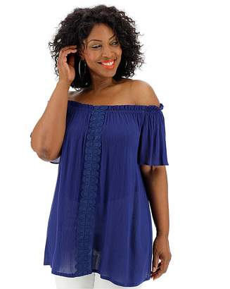 b4dc4846 Bardot Jd Williams Blue Crinkle Crochet