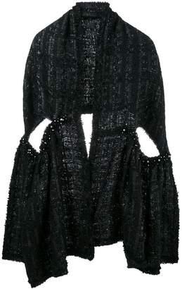 Simone Rocha lurex tweed scarf