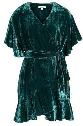 BB Dakota Night Fever Velvet Wrap Dress