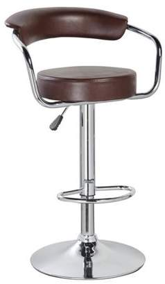 Generic Height Adjustable PU Bar Stool with Metal Chrome Armrest(5009), Multiple Colors