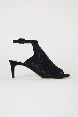 H&M Lace Sandals - Black